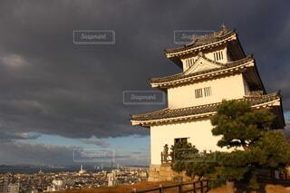 丸亀城の天守の写真・画像素材[4080809]