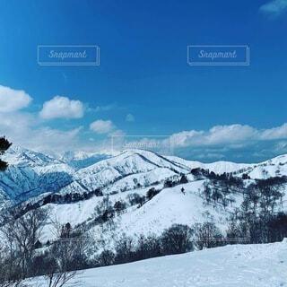 雪山の写真・画像素材[3929678]
