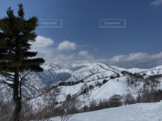 雪山の写真・画像素材[3929711]