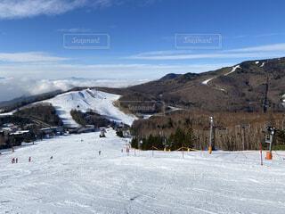 雪山から見た雲海の写真・画像素材[3955058]