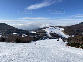 雪山から見た雲海の写真・画像素材[3955061]