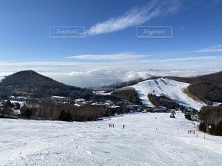 雪山から見た雲海の写真・画像素材[3955062]