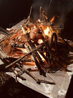 焚き火の写真・画像素材[3933262]