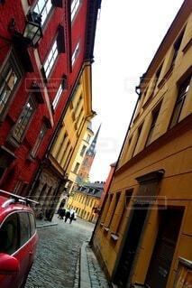 スウェーデンの路地の一角の写真・画像素材[3934086]