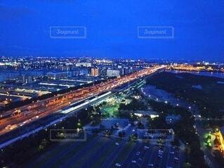 観覧車からの都心の夜景の写真・画像素材[3936310]