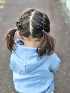 娘の髪型記録の写真・画像素材[3950128]