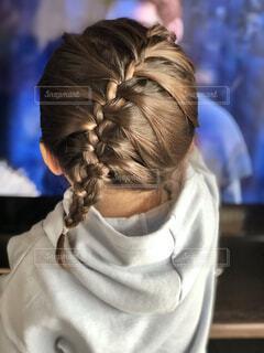 娘の髪型記録の写真・画像素材[3950129]