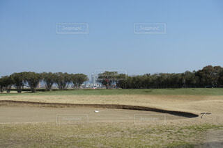 淀川河川敷のゴルフ場の写真・画像素材[4182251]