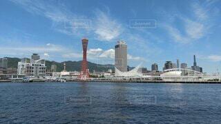 神戸港の風景 神戸タワーの写真・画像素材[4306966]