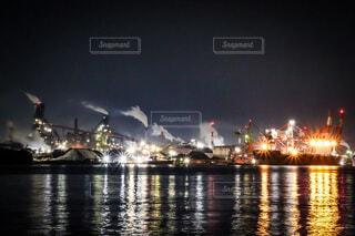 工場夜景の写真・画像素材[4874467]