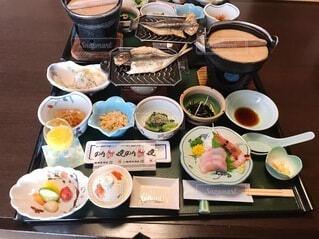 豪華な部屋食朝ごはんの写真・画像素材[3956118]
