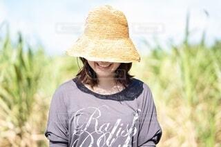 帽子をかぶった一人の写真・画像素材[4219160]