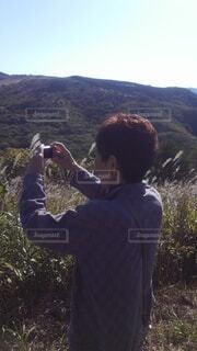 写真を撮る、叔母の写真・画像素材[4300214]
