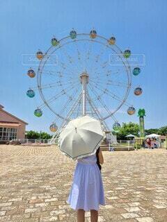 真夏の遊園地の写真・画像素材[4687590]