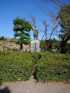 徳川家康の銅像の写真・画像素材[3949810]