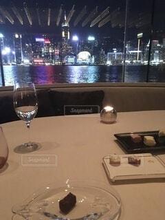 香港の夜景の写真・画像素材[3963099]