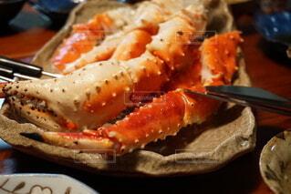 蟹のある食卓の写真・画像素材[3968007]