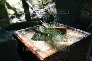 日本庭園のつくばいの写真・画像素材[3970293]