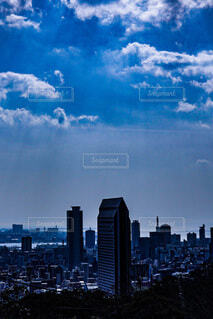 真冬の青空の写真・画像素材[4146065]