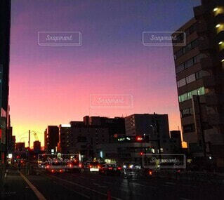 街の通りの眺めの写真・画像素材[4887480]