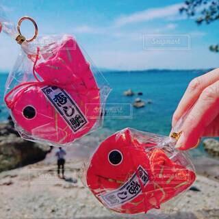 海岸で凧を飛ばす人の写真・画像素材[3968628]