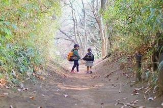 二人で散歩の写真・画像素材[4062967]