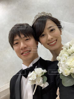 花嫁と花婿の写真・画像素材[3989068]