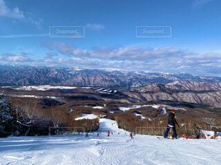 晴れの日のスキー場の写真・画像素材[4005029]
