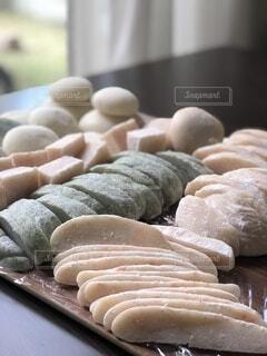 餅つき 海老餅 よもぎ餅 鏡餅の写真・画像素材[4006367]
