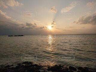 南国の夕焼けの写真・画像素材[3999347]