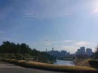 晴天の皇居の写真・画像素材[4003721]