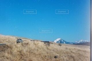 乾燥した草原の近くの写真・画像素材[4270121]