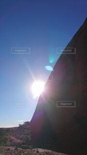 太陽と山と青空と。の写真・画像素材[4038840]