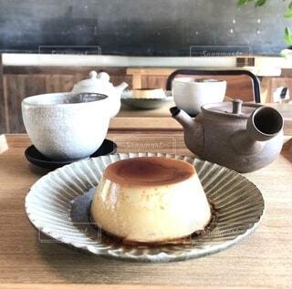 和風カフェでのデザートの写真・画像素材[4015731]