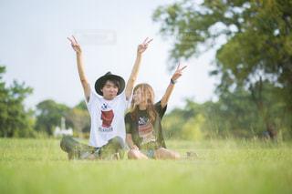夏と緑となかよしの写真・画像素材[743373]