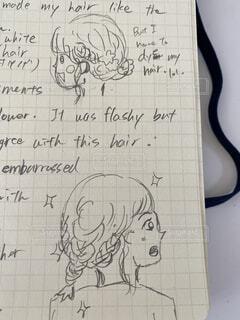 英語でほぼ毎日絵日記の写真・画像素材[4016072]