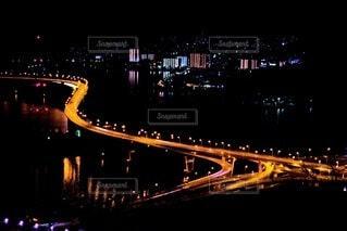 夜の海田大橋の写真・画像素材[4196577]