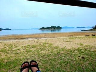 瀬戸内海を眺めての写真・画像素材[4233578]