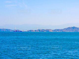 岡村島からみた四国の写真・画像素材[4270888]