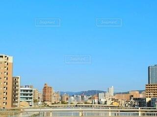 広島の朝は快晴の写真・画像素材[4320052]