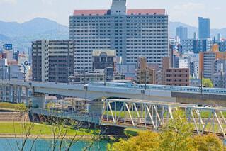 竜王町で見る新幹線の写真・画像素材[4347355]