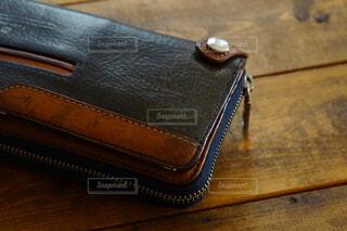 愛用の長財布の写真・画像素材[4392371]