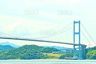 船と来島海峡大橋の写真・画像素材[4675747]