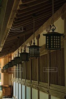 吊り灯籠の写真・画像素材[4683713]