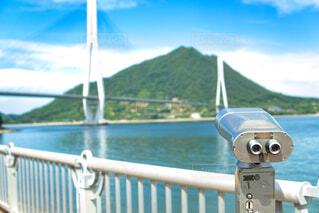 多々羅大橋と望遠鏡の写真・画像素材[4686732]