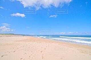 砂浜の足跡の写真・画像素材[4830557]