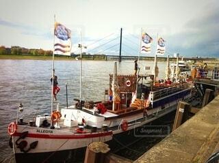ドイツライン川の観光船の写真・画像素材[4052047]