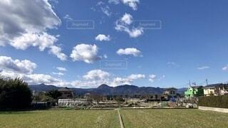 冬の青い空の写真・画像素材[4177732]