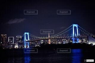 レインボーブリッジと東京タワーの写真・画像素材[4077462]