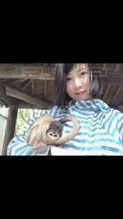 猿と人の写真・画像素材[4029572]